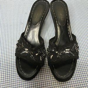 Bandalino slip on heels.        LL 496